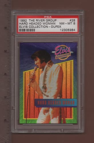 28 Hard Headed Woman - 1992 The Elvis Collection Dufex Card PSA rated NM - MT 8