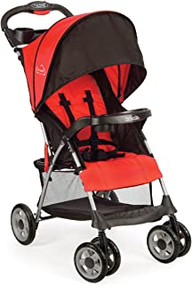 Kolcraft Cloud Plus Lightweight Stroller with 5-Point Safety System and Multi-Positon Reclining Seat, Fire Red