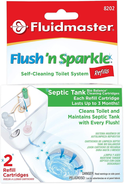 Fluidmaster 8202P8 Flush 'n Ranking TOP6 Gorgeous Sparkle Automatic Cleani Toilet Bowl