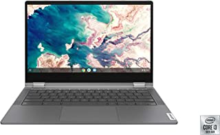 Lenovo Chromebook Flex 5 13インチノートパソコン、FHD (1920 x 1080) タッチディスプレイ、Intel Core i3-10110Uプロセッサー、4GB DDR4 OnBoard RAM、64GB SSD、Intel Integrated Graphics、Chrome OS、82B80006UX、グラファイトグレー