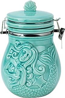 Boston Warehouse 49224 Mermaid Hinged Jar, Turquoise