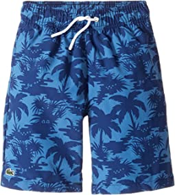 Palm Tree Print Swimsuit (Little Kids/Big Kids)