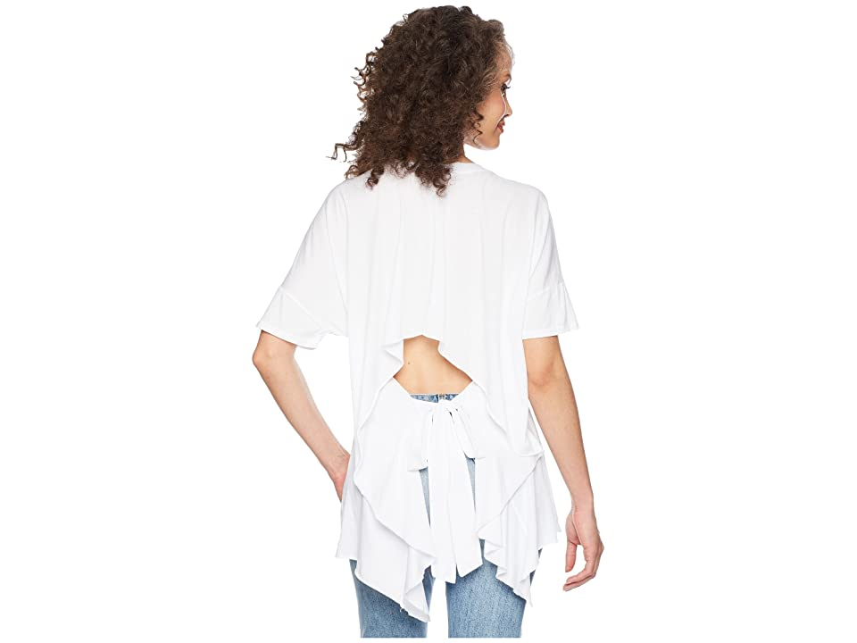LAmade Mack Open Back Tee (White) Women's T Shirt