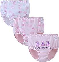 Zegoo Girls Underwear Boyshorts 100% Cotton Childrens Panties 3 Pack