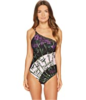 Versace - Intero One Shoulder Printed Maillot One-Piece