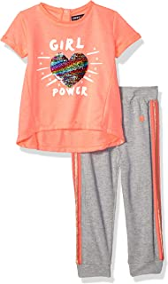 Girls' Short Sleeve T-Shirt and French Terry Pant Set