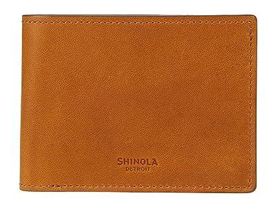Shinola Detroit Navigator Slim Bifold 2.0 (Honey) Bi-fold Wallet
