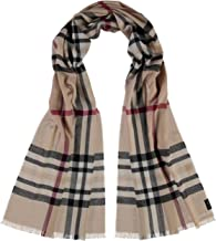 35 x 200 cm High-Quality Cashmink Woven Scarf with Cut Fringes FRAAS Plaid Mens Womens Scarf Black Perfect for Fall Winter Transition