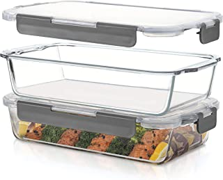 Superior Glass Casserole Dish with lid - 2-Piece Glass Bakeware And Glass Food-Storage Set - 100% Leakproof Casserole Dish...