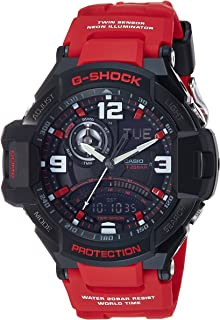 Casio G-Shock Red Gravity Defier Ga1000-4B Watch