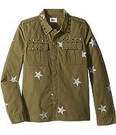 Glitter Print Shirt Jacket (Big Kids)