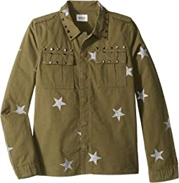 Glitter Print Shirt Jacket (Big Kids)