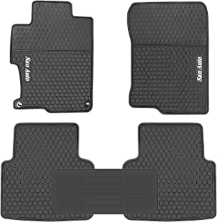 HD-Mart Car Rubber Floor Mat for Honda Accord 9th Generation 2017-2016-2015-2014 Custom Fit Black Auto Liner Mats All Weather, Heavy Duty & Odorless