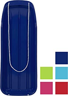 Best Choice Products 48in Kids Plastic Toboggan Snow Sled with Pull Rope
