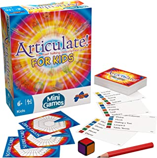 Drumond Park Articulate for Kids Mini Board Game, Travel Games for Kids, Compact Version of the Fast Talking Description G...