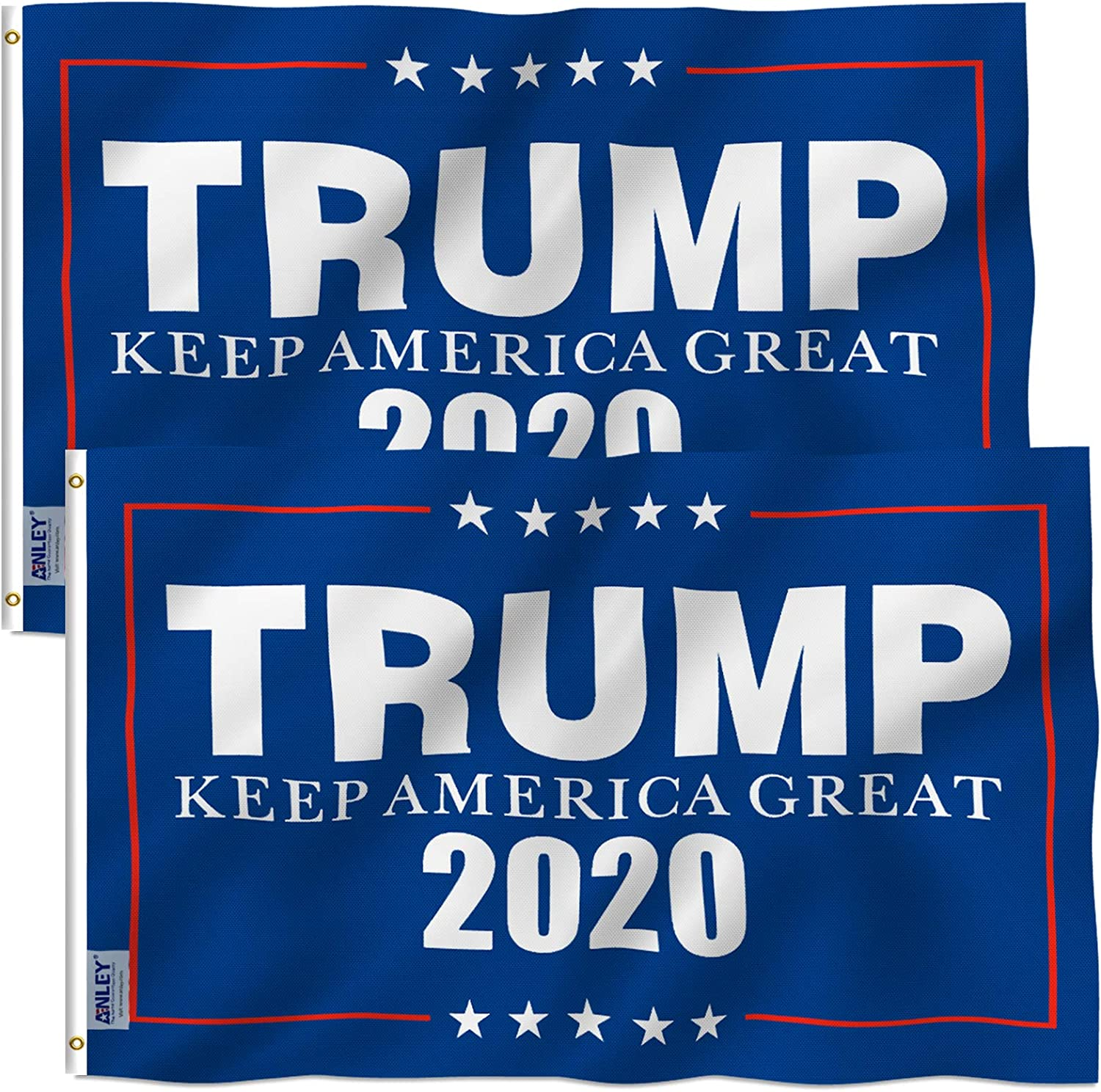 Popular New York Mall Anley Pack of 2 Fly Breeze 3x5 Viv Flag 2020 - Donald Trump Foot