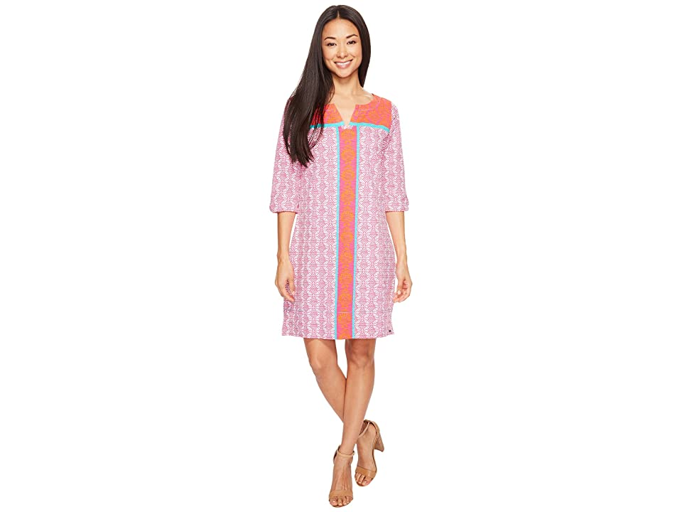 Hatley Peplum Sleeve Dress (Cross Hatch Tropics) Women