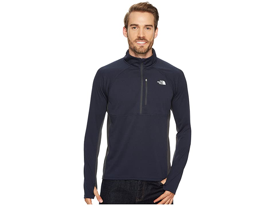 The North Face Impulse Active 1/4 Zip (Urban Navy Heather/Asphalt Grey) Men