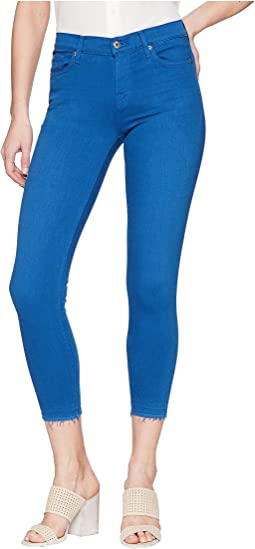 7 For All Mankind The Ankle Skinny w/ Released Hem in Cobalt Blue