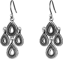 Lucky Brand - Blue Moon Moveable Tribal Chandelier Earrings