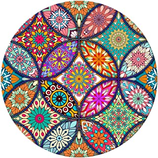BOSOBO Mouse Pad, Round Mandala Mouse Mat, Cute Mouse Pad with Design, Non-Slip Rubber Base Mousepad with Stitched Edge, W...