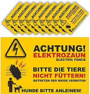 "E-Zaun!/"" Warnschild Schild /""Achtung"