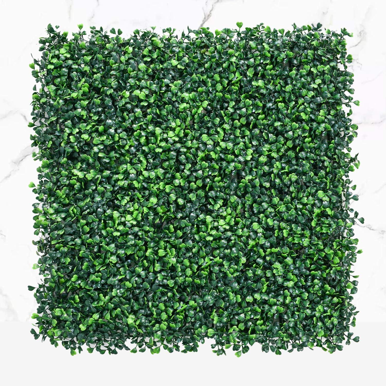 Funland 36PCS テレビで話題 出荷 20''X20'' Square H Boxwood Artificial Tile