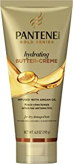 Pantene Butter Crème Hair Treatment, with Argan Oil, Sulfate Free, with Argan Oil, Intense Hydrating, Pro-V Gold Series, for Natural and Curly Textured Hair, 6.8 fl oz