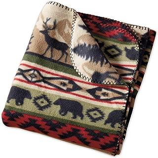 DII Back Country Stripe Fleece Throw Blanket Multi