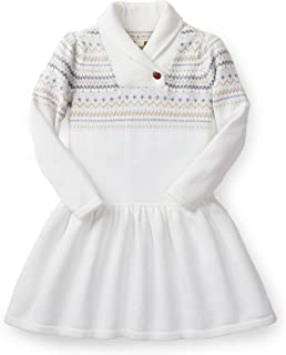 Girls' Long Sleeve Drop Waist Shawl Collar Dress