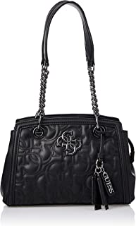 GUESS Women's New Wave Luxury Satchel, Black - VM747508