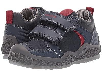 Geox Kids Jr Artach 2 (Toddler) (Navy/Red) Boys Shoes