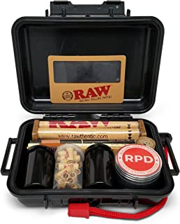 Bundle - 12 Items - Rolling Paper Depot RAW Smoker's Kit - Includes Air-Tight Carrying Case, Rolling Papers, Cigarette Maker, Pre Rolled Tips Grinder and More