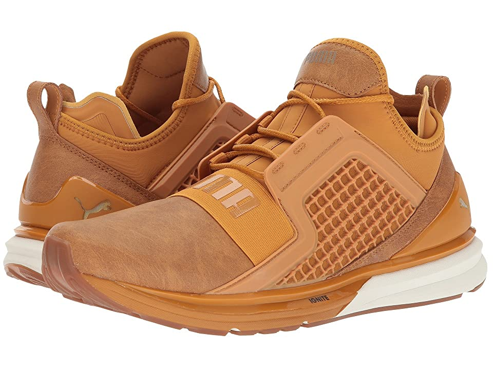 PUMA Ignite Limitless Leather (Inca Gold/Gold) Men