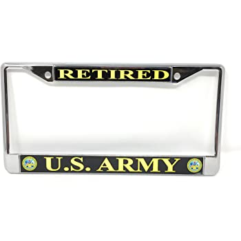 United States Army Chrome Motorcycle License Plate Frame Eagle