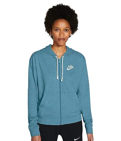 Nike NSW Gym Vintage Hoodie Full Zip (Cerulean/Sail) Women