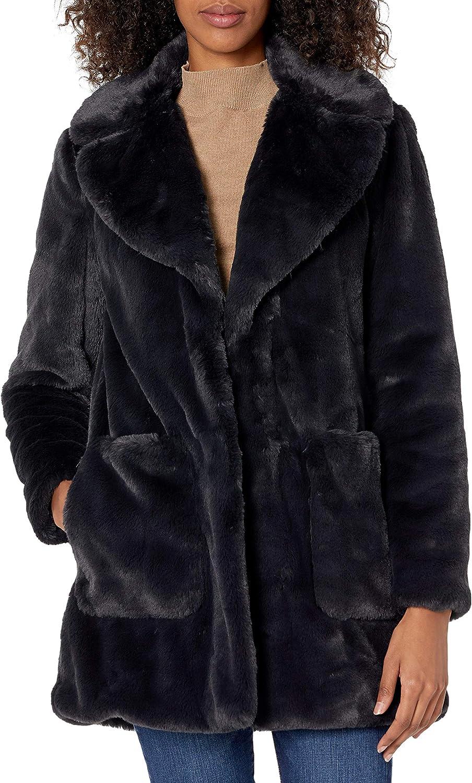 RACHEL Rachel Roy Women's Solid Faux Fur Coat