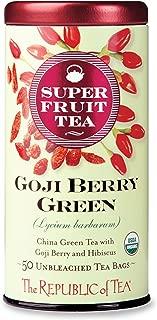 The Republic Of Tea Organic Goji Berry Green Superfruit Tea, Tea Bag Tin, 50 Count