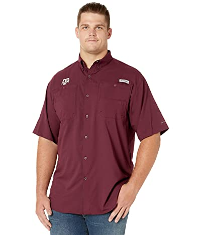Columbia College Big Tall Texas AM Aggies Collegiate Tamiamitm II Short Sleeve Shirt (Maroon) Men