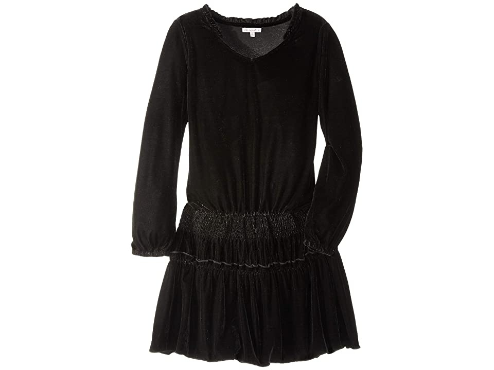 Ella Moss Girl Velvet Dress (Big Kids) (Black) Girl