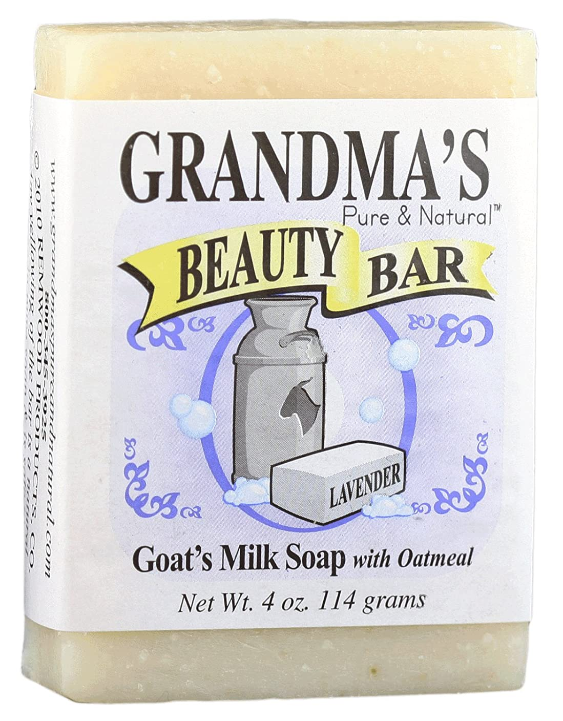 タイヤ作ります発症Grandma's Pure & Natural Beauty Bar Lavender Oatmeal 4 oz by GrandmaS Secret