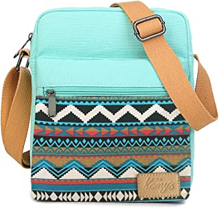 Girls Stripe Tween Purses Set Small Crossbody Purse for Teen Girls Women Canvas Over Shoulder Messenger Bags for Traveling Easter Gifts, Teal White