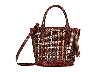 Brahmin Prairie Small Bowie Satchel (Pecan) Satchel Handbags