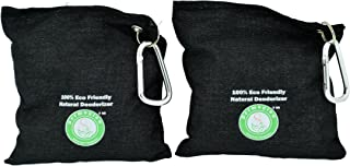 Natural Air Purifying Odor Eliminator and Absorber Fragrance and Chemical FREE Charcoal for Shoe Car Room Basement Pet Litter Box Closet Reusable 2 Piece Large Over 300g (11oz) Each Bag Made in USA