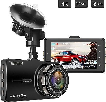 "$79 Get Dash Cam with GPS and WiFi, Car Dash Camera, TOGUARD 4K Ultra HD Dash Camera for Cars 170°Wide Angle Dashboard Camera G-Sensor, WDR Loop Recording, Parking Monitor, 3.0"" LED Screen Car Driving Camera"