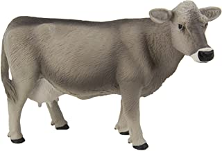 Safari Ltd Farm Collection - Brown Swiss Cow - Realistic Hand Painted Toy Figurine Model - Quality Construction from Safe and BPA Free Materials - for Ages 3 and Up