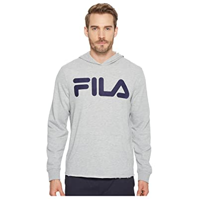 Fila Locker Room Hoodie (Grey Heather/Navy) Men