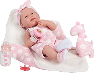 """JC Toys La Newborn All-Vinyl-Anatomically Correct Real Girl 15"""" Baby Doll in Pink and Deluxe Accessories, Designed by Bere..."""