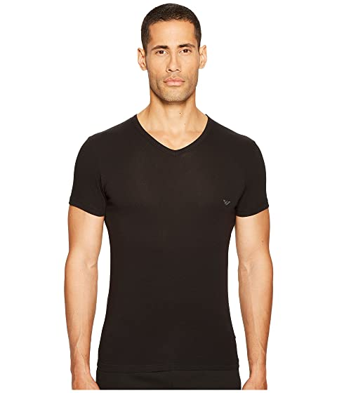 Emporio Armani Stretch Cotton V-Neck Tee