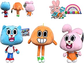 The Amazing World of Gumball - Pack 3 Cuddly Toys from The Gumball Series: Darwin (Orange), Gumball (Blue), Anaïs (Pink) 12